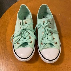 Tiffany Light Blue Green Converse Shoes USA Size 7